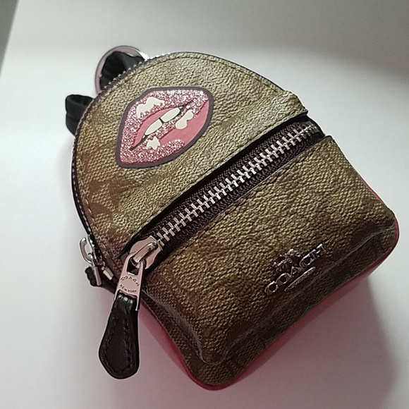 COACH Mini Backpack Coin Purse Key Chain 06343d89c32a1
